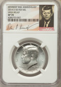 Kennedy Half Dollars, 2014-D 50C Silver, High Relief, 50th Anniversary Set, SP70 NGC. NGCCensus: (0). PCGS Population (157)....