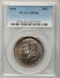 Kennedy Half Dollars, 1964 50C MS66 PCGS. PCGS Population (1319/51). NGC Census:(1013/49). Mintage: 273,300,000. ...