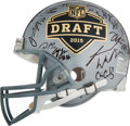 Football Collectibles:Helmets, 2015 National Football League Draft Multi-Signed Authentic Full Sized Helmet....