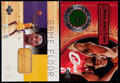 Basketball Cards:Lots, 2000-03 Upper Deck Kobe Bryant & LeBron James Game Floor RelicCard Duo (2)....