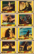 "Movie Posters:Science Fiction, Godzilla (Trans World, 1956). Lobby Card Set of 8 (11"" X 14"").. ...(Total: 8 Items)"