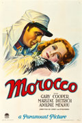 "Movie Posters:Romance, Morocco (Paramount, 1930). One Sheet (27.5"" X 41"") Style B.. ..."