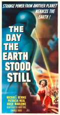 "Movie Posters:Science Fiction, The Day the Earth Stood Still (20th Century Fox, 1951). Three Sheet (41"" X 81"").. ..."