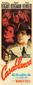 "Movie Posters:Academy Award Winners, Casablanca (Warner Brothers, 1942). Insert (14"" X 36"").. ..."