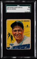 Baseball Cards:Singles (1930-1939), 1934 V354 World Wide Gum Lou Gehrig #92 SGC 10 Poor 1....