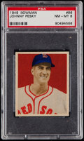 Baseball Cards:Singles (1940-1949), 1949 Bowman Johnny Pesky #86 PSA NM-MT 8....