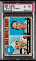 Baseball Cards:Singles (1960-1969), 1968 Topps Johnny Bench - Reds Rookies #247 PSA EX-MT 6....