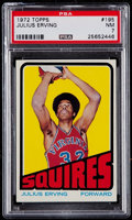 Basketball Cards:Singles (1970-1979), 1972 Topps Julius Erving #195 PSA NM 7....