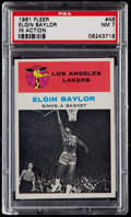Basketball Cards:Singles (Pre-1970), 1961 Fleer Elgin Baylor In Action #46 PSA NM 7....
