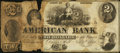 Obsoletes By State:Indiana, Dover Hill, IN- American Bank $2 Nov. 1, 1856 Remainder. ...
