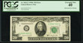 Error Notes:Obstruction Errors, Fr. 2062-G $20 1950C Federal Reserve Note. PCGS Extremely Fine 40.....