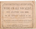 Political:Small Paper (1896-present), Abraham Lincoln: Wide Awake Songster....