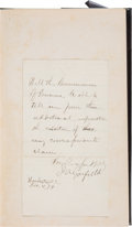 Autographs:U.S. Presidents, James A. Garfield: ALS and Personally-owned History Book....