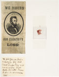 Political:Presidential Relics, Abraham Lincoln Assassination: Ford's Theatre Flag Relic....