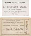 Political:Small Paper (pre-1896), [Abraham Lincoln]: Train Pass to Dedication of Gettysburg Cemetery.... (Total: 2 Items)