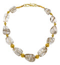 Estate Jewelry:Necklaces, Rutilated Quartz, Gold Necklace, Patricia Makena. ...
