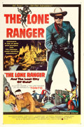 """Movie Posters:Western, The Lone Ranger and the Lost City of Gold (United Artists, 1958). One Sheet (27"""" X 41"""").. ..."""