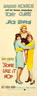 "Some Like It Hot (United Artists, 1959). Insert (14"" X 36""). Comedy"