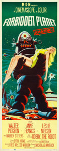 "Movie Posters:Science Fiction, Forbidden Planet (MGM, 1956). Insert (14"" X 36"").. ..."