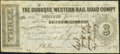 Obsoletes By State:Iowa, Dubuque, IA- Dubuque Western Rail Road Compy. $3 Jan. 15, 1858. ...