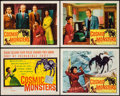 """Movie Posters:Science Fiction, Cosmic Monsters (DCA, 1958). Title Lobby Card & Lobby Cards (3)(11"""" X 14""""). Science Fiction.. ... (Total: 4 Items)"""