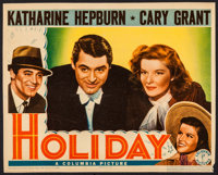 """Holiday (Columbia, 1938). Trimmed Lobby Card (10.75"""" X 13.5""""). Comedy"""