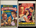 """Movie Posters:Foreign, The Light Across the Street & Other Lot (Les Films Fernand Rivers, 1956). Trimmed Belgian (14"""" X 19.75"""") & Belgian (14"""" X 21... (Total: 2 Items)"""