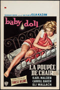 "Movie Posters:Drama, Baby Doll (Warner Brothers, 1957). Belgian (14.5"" X 22""). Drama.. ..."