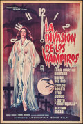 "Movie Posters:Horror, The Invasion of the Vampires (Argentina Sono Film, 1963). Argentinean Poster (29"" X 43""). Horror.. ..."