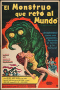 "Movie Posters:Science Fiction, The Monster that Challenged the World & Other Lot (UnitedArtists, 1957). Argentinean Poster (29"" X 43"") & One Sheets (3)(2... (Total: 4 Items)"