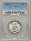 Washington Quarters, 1936-D 25C MS66+ PCGS....