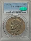 Eisenhower Dollars, 1974-D $1 MS66+ PCGS. CAC....
