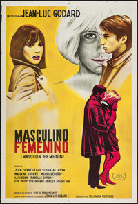 """Masculine, Feminine & Other Lot (Columbia, 1966). Argentinean One Sheet (29"""" X 43"""") & French Affiche (..."""