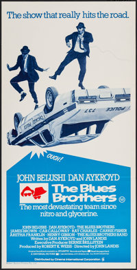 "The Blues Brothers (Universal, 1980). Australian Post-War Daybill (13"" X 26""). Comedy"