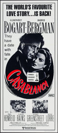 "Movie Posters:Academy Award Winners, Casablanca (United Artists, R-1972). Australian Post-War Daybill(13"" X 29.75""). Academy Award Winners.. ..."