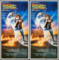 """Movie Posters:Science Fiction, Back to the Future (Universal International, 1985). AustralianDaybills (2) Identical (13.75"""" X 26.75""""). Science Fiction.. ...(Total: 2 Items)"""