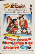 "Movie Posters:Comedy, Abbott and Costello Meet Captain Kidd (Warner Brothers, 1953). OneSheet (27"" X 41""). Comedy.. ..."