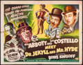 "Movie Posters:Comedy, Abbott and Costello Meet Dr. Jekyll and Mr. Hyde (UniversalInternational, 1953). Half Sheet (22"" X 28"") Style A. Comedy.. ..."