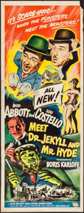 """Movie Posters:Comedy, Abbott and Costello Meet Dr. Jekyll and Mr. Hyde (UniversalInternational, 1953). Insert (14"""" X 36""""). Comedy.. ..."""