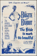 """Movie Posters:Foreign, The Bride is Much Too Beautiful (Ellis-Lax, 1958). One Sheet (27"""" X 41""""). Foreign.. ..."""