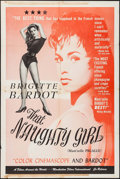 "Movie Posters:Sexploitation, That Naughty Girl (Films Around the World, 1956). One Sheet (27"" X41""). Sexploitation.. ..."