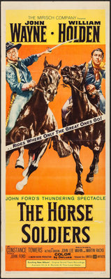"The Horse Soldiers (United Artists, 1959). Insert (14"" X 36""). Western"