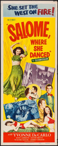 "Movie Posters:Adventure, Salome, Where She Danced (Realart, R-1953). Insert (14"" X 36"").Adventure.. ..."