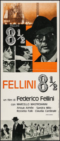 "Movie Posters:Foreign, 8½ (Embassy, 1963). Italian Locandina (11.5"" X 27""). Foreign.. ..."