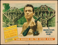 "The Bridge on the River Kwai (Columbia, 1958). Half Sheet (22"" X 28"") Style A. War"