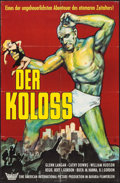 "Movie Posters:Science Fiction, The Amazing Colossal Man (Bavaria Filmverleih, 1962). German A1(23.25"" X 33""). Science Fiction.. ..."