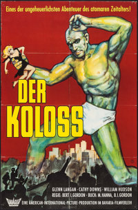 "The Amazing Colossal Man (Bavaria Filmverleih, 1962). German A1 (23.25"" X 33""). Science Fiction"