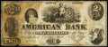Obsoletes By State:Indiana, Dover Hill, IN- American Bank $2 Nov. 1, 1856. ...