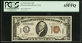 Small Size:World War II Emergency Notes, Fr. 2303 $10 1934A Hawaii Federal Reserve Note. PCGS Gem New 65PPQ.. ...