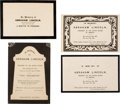 """Political:Memorial (1800-present), Abraham Lincoln: """"In Memory of Abraham Lincoln"""" Embossed Mourning Cards.... (Total: 4 Items)"""